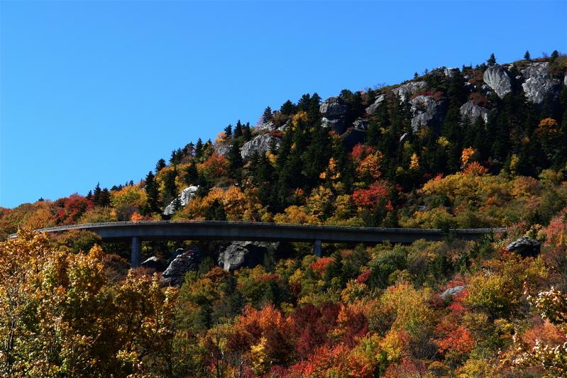 Linn Cove Viaduct on the Blue Ridge Parkway
