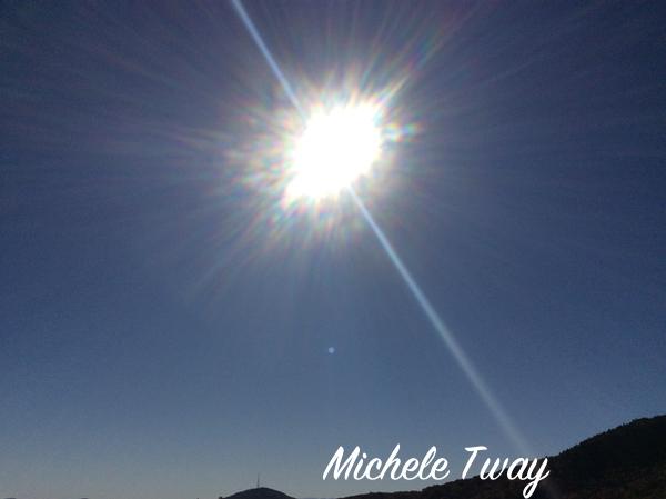 sunbeams from blue ridge mountains